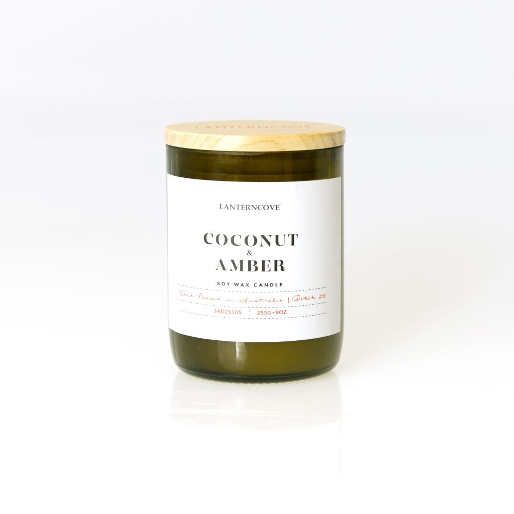 Coconut & Amber 9oz Soy Wax Candle