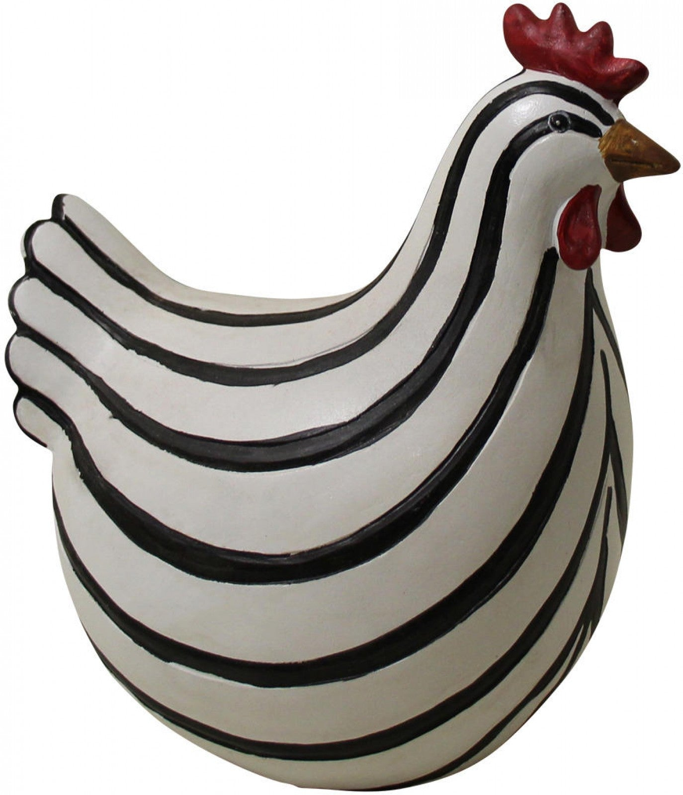 Hen with Stripes