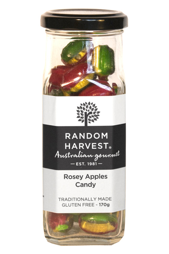 Rosey Apples Rock Candy