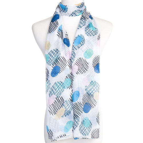 Oval Print Scarf