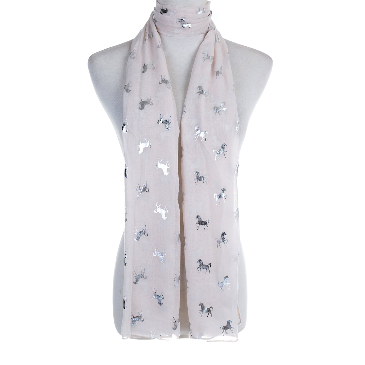 Silver Horse Decal Scarf