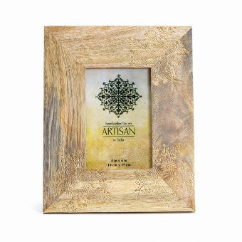 Gold Foil Mangowood Photo Frame 4 x 6