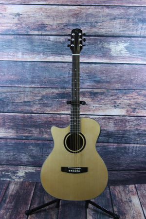 Giannini Left Handed GADC-S-MH-EQ-N Acoustic Electric Guitar - Acoustic Electric Guitar - Adirondack Guitar - 1