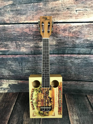 Adirondack Guitar Eddie Finn Roadhouse Cigar Box Uke EF-CGBX-1 with Gig Bag