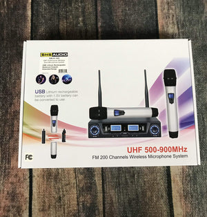 Airline Amp SHS Audio USB Rechargable Dual Handheld Wireless Microphone System SWUH-500