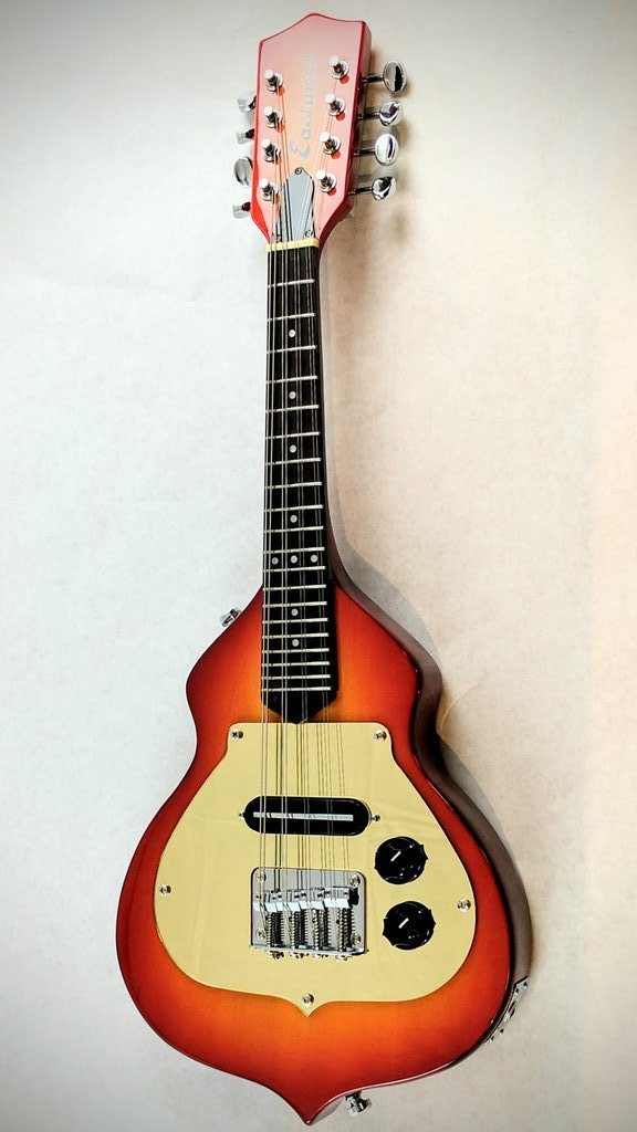 Airline Mandolin Eastwood Ricky Electric Mandolin with Gig Bag- Cherry Burst