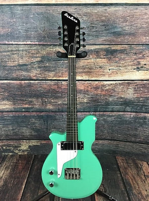Airline Mandolin Used Airline Left Handed Mandola Sea Foam Green with TKL Gig Bag