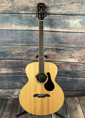 Alvarez Acoustic Guitar Used Alvarez Baritone ABT60 Baritone Acoustic Electric Guitar with Case