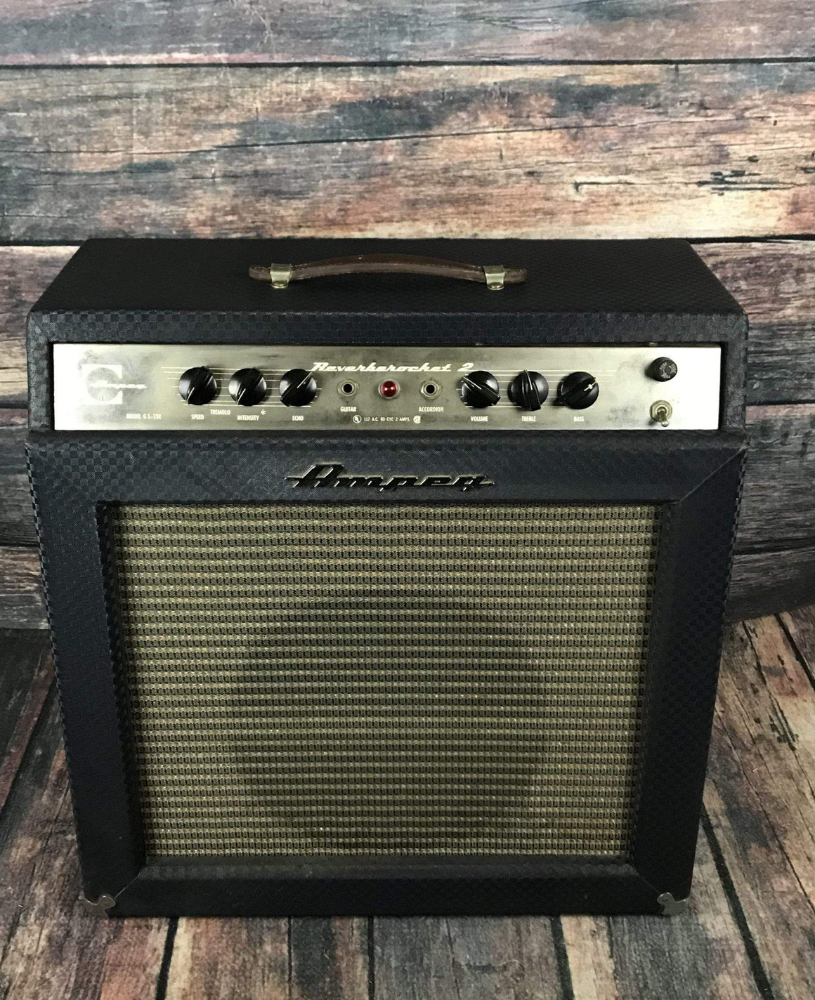 Ampeg Amp Used Ampeg 60's ReverbeRocket 2 Blue Tolex 1x12 Tube Combo Amp with Footswitch
