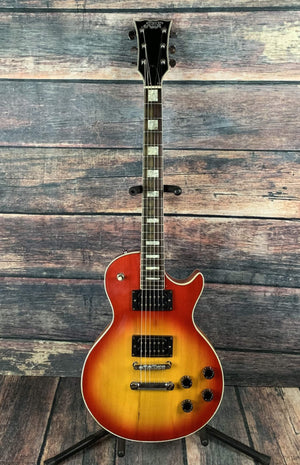 Aspen Electric Guitar Used Aspen Vintage LP Style Single Cutaway Electric Guitar with Gig Bag- Cherryburst