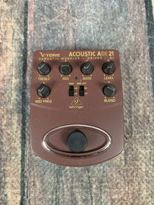 Behringer pedal Used Behringer ADI-21 Acoustic DI Pedal