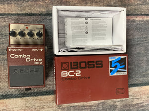 Boss pedal Used Boss BC-2 Combo Drive Overdrive Pedal with Box