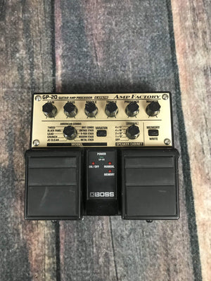Boss pedal Used Boss GP-20 Amp Factory Multi Effect Pedal
