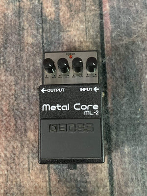 Boss pedal Used Boss ML-2 Metal Core Distortion Pedal with Box