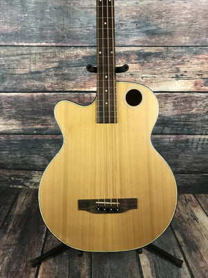 Boulder Creek Acoustic Bass Boulder Creek Left Handed EBR3-N4L 4 String Fretted Acoustic Electric Bass Guitar