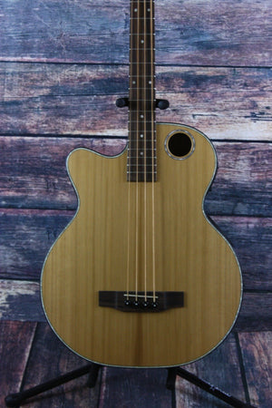 Boulder Creek Acoustic Electric Bass Bass Only Boulder Creek Left Handed Solitaire EBR3-N4L Acoustic Electric Bass