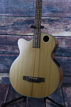 Boulder Creek Acoustic Electric Bass Boulder Creek Left Handed Solitaire EBR3-N4L Acoustic Electric Bass