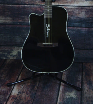 Boulder Creek Acoustic Electric Guitar Guitar Only Boulder Creek ECR1-B-L Left Handed Guitar