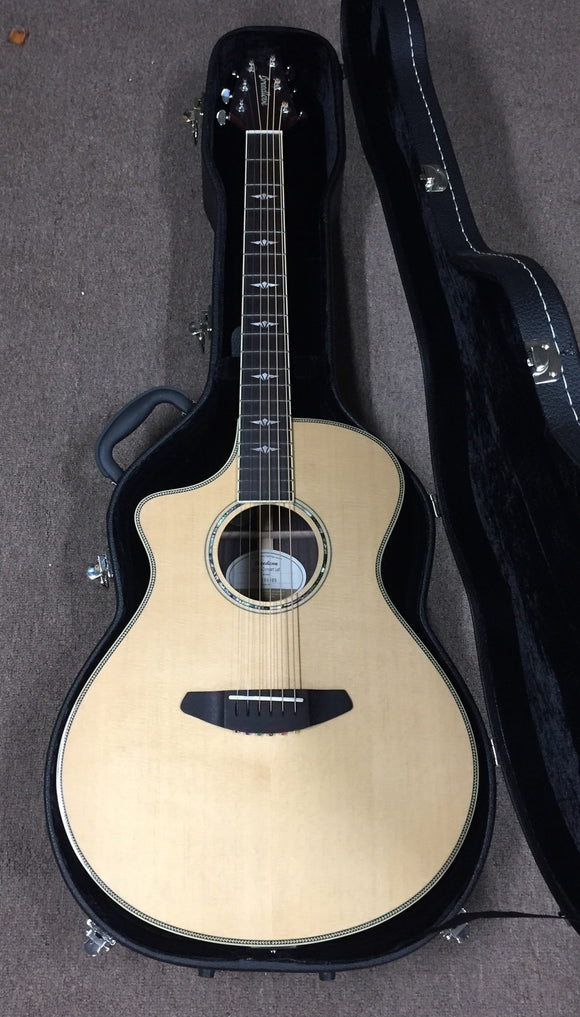 Breedlove Acoustic Guitar Used Breedlove Left Handed Concert Pursuit Acoustic Electric Guitar