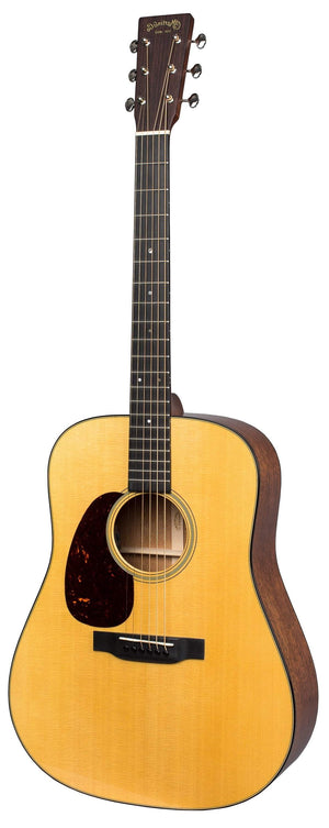 C.F. Martin Guitars Acoustic Electric Guitar Guitar and Case Martin Left Handed D-18E Standard Series Acoustic Electric Guitar
