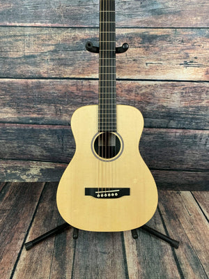C.F. Martin Guitars Acoustic Electric Guitar Martin LX1E Little Martin Acoustic Electric Short Scale Guitar with Gig Bag- Natural