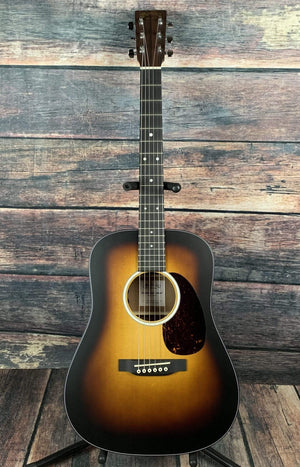 C.F. Martin Guitars Acoustic Guitar Martin DJR-10E Burst Dreadnought JR Acoustic Electric Guitar- Burst Finish