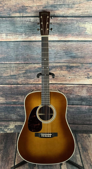 C.F. Martin Guitars Acoustic Guitar Martin Left Handed D-28 Standard Series Acoustic Guitar- Ambertone finish
