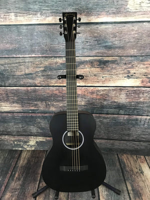 C.F. Martin Guitars Acoustic Guitar Martin Left Handed LX Black Little Martin Acoustic Short Scale Guitar with Gig Bag