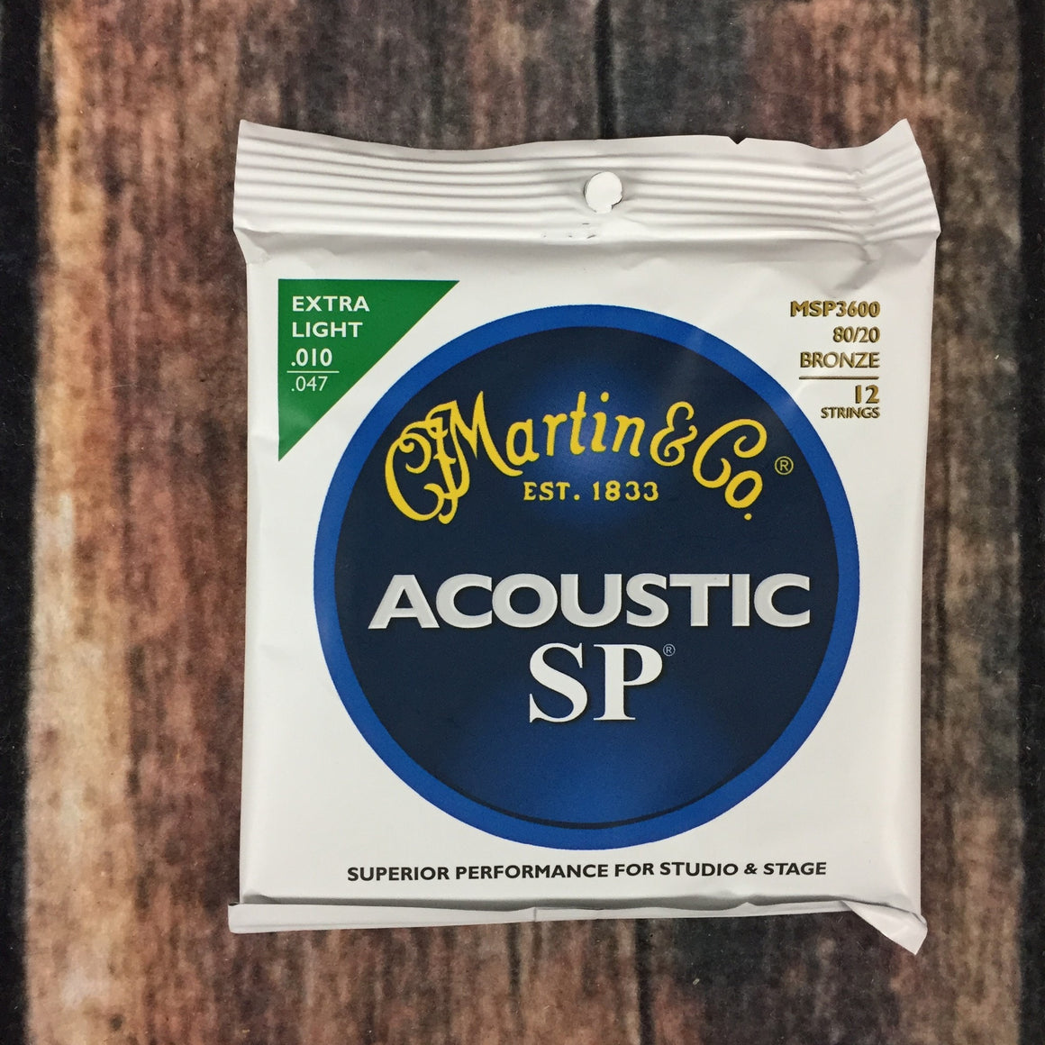 C.F. Martin Guitars Acoustic Guitar Strings Martin MSP3600 3600 12 String Extra Light Acoustic Guitar Strings