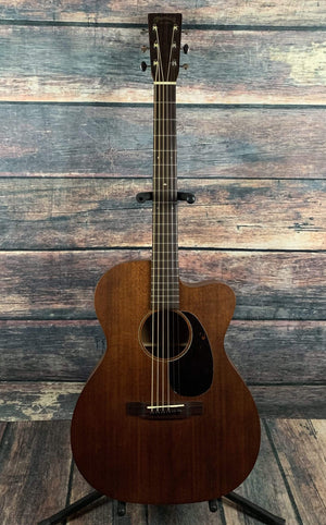 C.F. Martin Guitars Acoustic Guitar Used Martin 2016 OMC-15ME 15 Series USA made Acoustic Elecric Guitar with Case