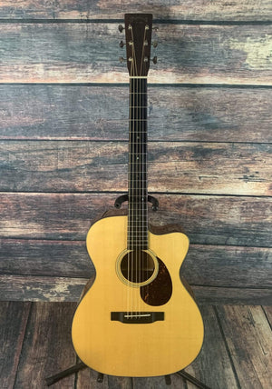 C.F. Martin Guitars Acoustic Guitar Used Martin 2016 OMC-18E Standard Series Acoustic Electric Guitar with Case