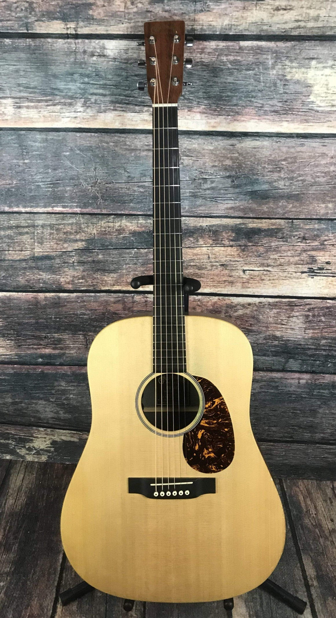 C.F. Martin Guitars Acoustic Guitar Used Martin DX1AE X Series Dreadnought Acoustic Electric Guitar with Hard Shell Case