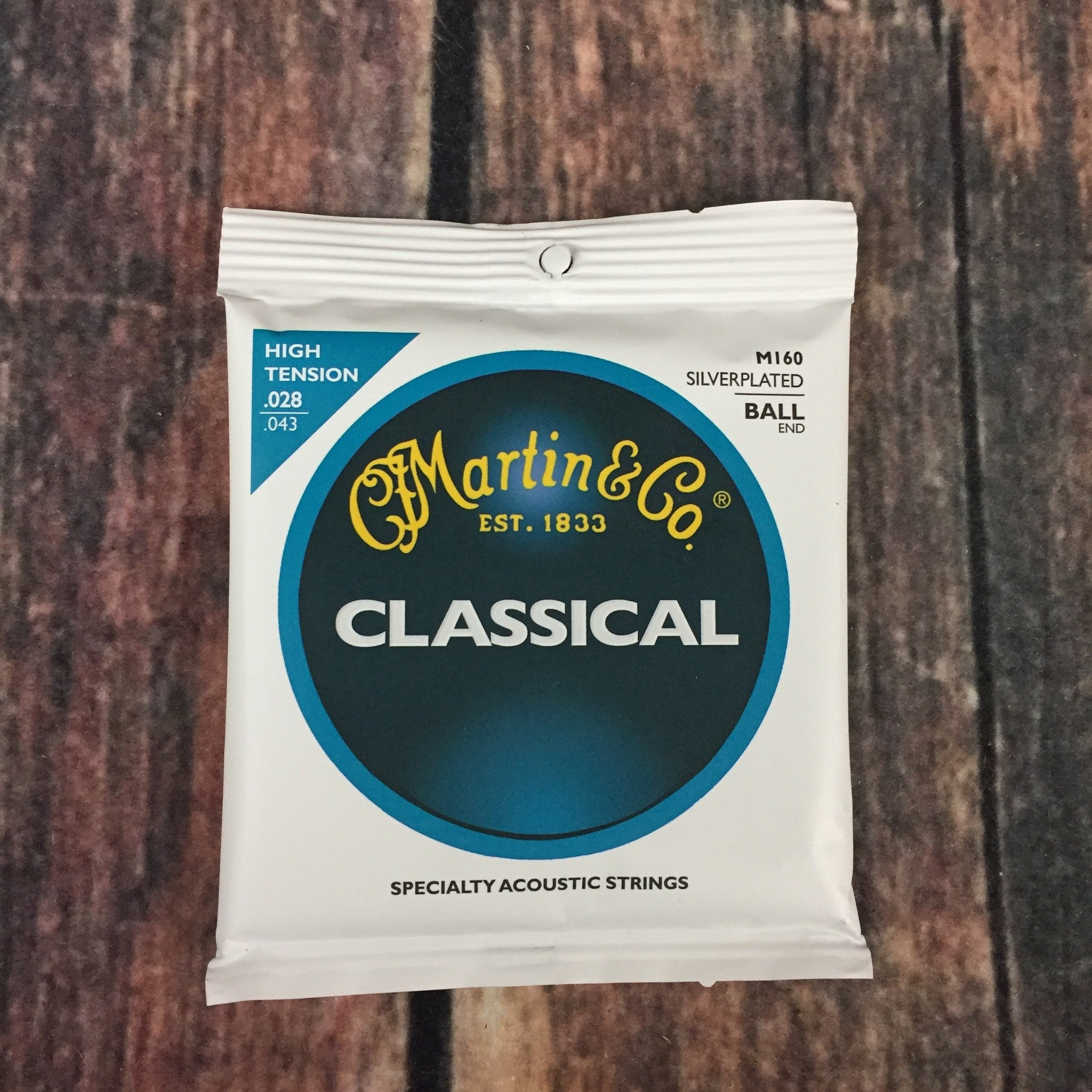 NEW MARTIN SILVERPLATED BALL END HIGH TENSION CLASSICAL GUITAR STRINGS 6 PACK