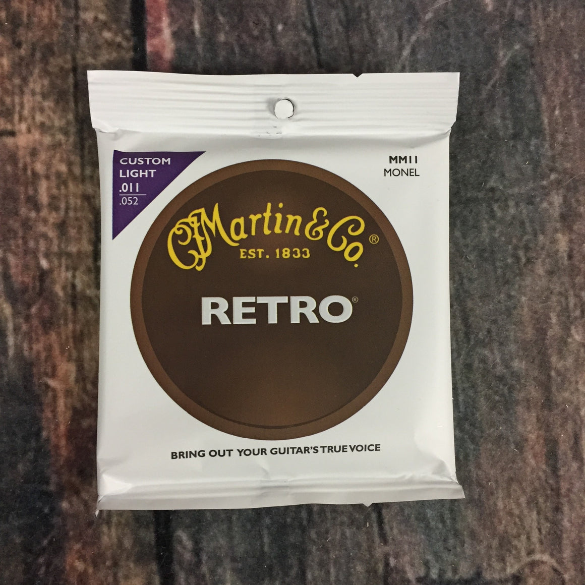 C.F. Martin Guitars Strings Martin MM11 Custom Light Monel Acoustic Guitar Strings