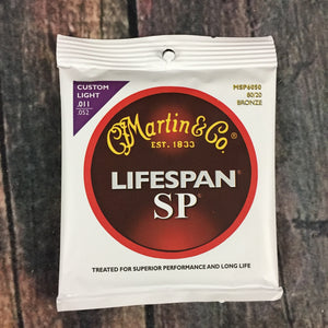 C.F. Martin Guitars Strings Martin MSP6050 SP Lifespan Custom Light 80/20 Bronze Acoustic Guitar Strings