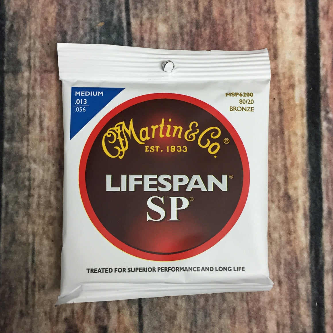 C.F. Martin Guitars Strings Martin MSP6200 SP Lifespan Medium 80/20 Bronze Acoustic Guitar Strings