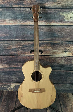 Cole Clark Acoustic Guitar Cole Clark AN2EC-BB ANGEL 2 EC Bunya Face Australian Blackwood Back and Sides Acoustic Electric Guitar