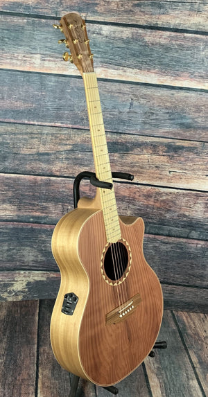 Cole Clark Acoustic Guitar Cole Clark AN2EC-RDBLSB ANGEL 2 EC Redwood/Australian Blackwood Acoustic Electric Guitar