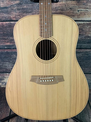 Cole Clark Acoustic Guitar Cole Clark FL2EC- Fat Lady 2 EC Bunya Face Australian Blackwood Back and Side Acoustic Electric Guitar