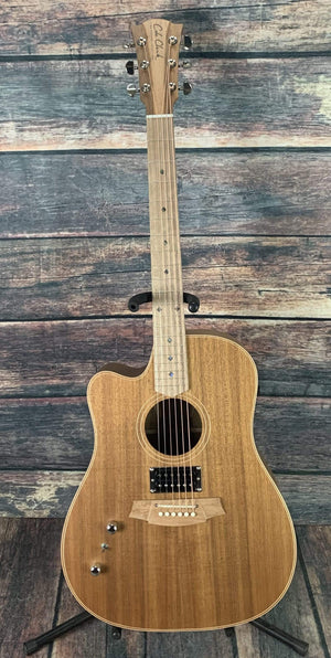 Cole Clark Acoustic Guitar Cole Clark FL2ECL-BLBL-HUM Left Handed Fat Lady 2 EC Humbucker Australian Blackwood Acoustic Electric Guitar