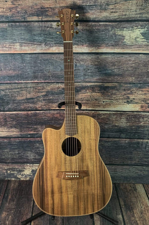 Cole Clark Acoustic Guitar Cole Clark FL2ECL-BLBL Left Handed Fat Lady 2 EC Australian Blackwood Acoustic Electric Guitar