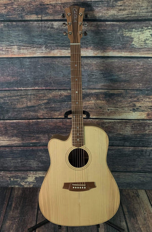 Cole Clark Acoustic Guitar Cole Clark FL2ECLHBB Left handed Fat Lady 2 EC Bunya Face Australian Blackwood Back and Side Acoustic Electric Guitar