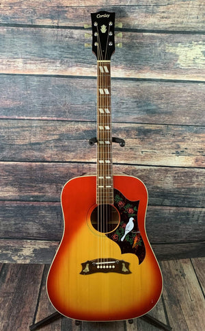 Cortley Acoustic Guitar Used Cortley W-65H Japanese Made Acoustic Guitar with Gig Bag