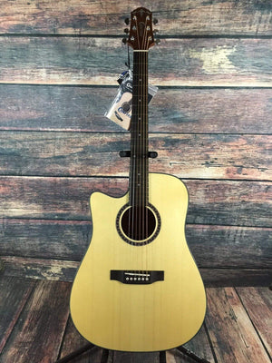Crafter Acoustic Electric Guitar Crafter Left Handed HiLITE-DE SP/N Acoustic Electric Guitar