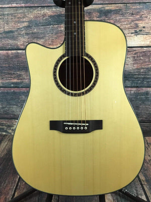 Crafter Acoustic Electric Guitar Guitar only Crafter Left Handed HiLITE-DE SP/N Acoustic Electric Guitar