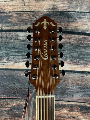 Crafter Acoustic Guitar Crafter D8-12EQ/N  Acoustic Electric 12 String Guitar with Crafter Case