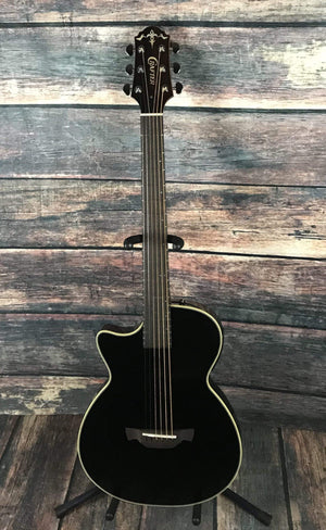 Crafter Acoustic Guitar Crafter Left Handed CT120 Slim Acousitc Electric Guitar with LR Baggs Acoustic Pickup- Black