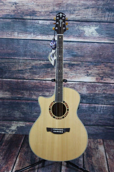 Crafter Acoustic Guitar Crafter Left Handed GAE 15 L/N Acoustic Electric Guitar