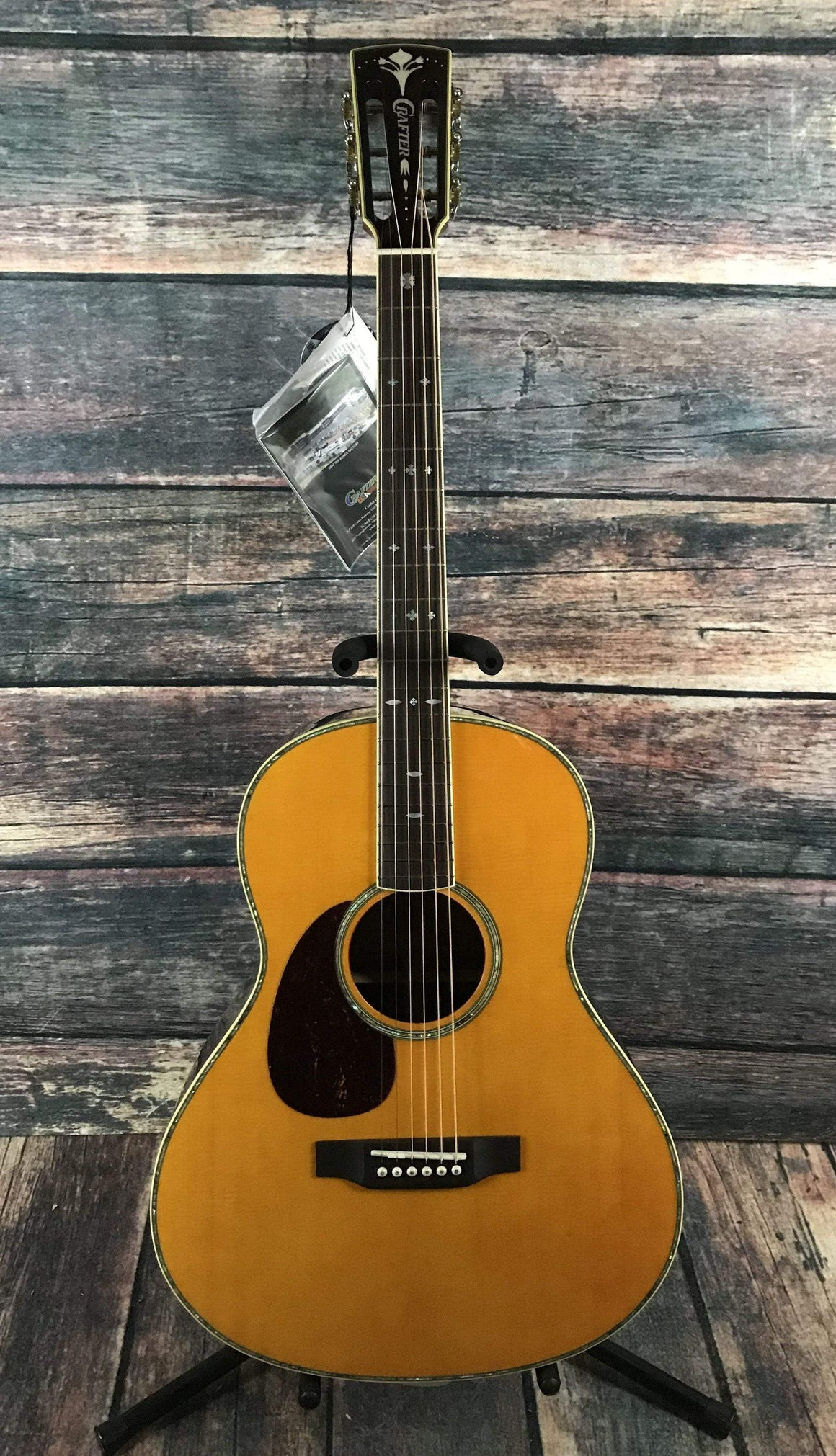 Crafter Acoustic Guitar Includes a hard shell case Crafter Left Handed TA-050/AM Parlor Acoustic Guitar