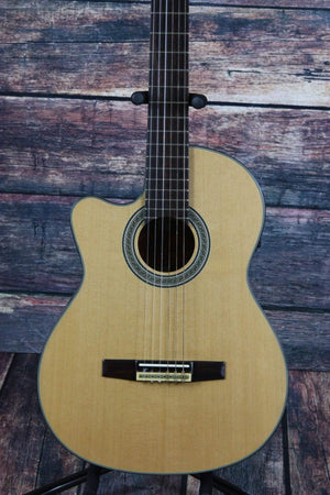 Crafter Classical Guitar Crafter Left Handed CE15/N Acoustic Electric Classical Cutaway Guitar